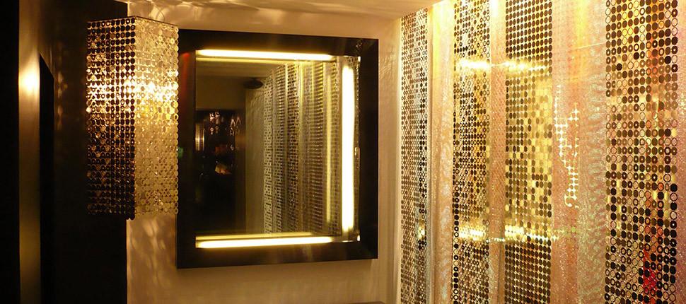 Bubble wall deco panels gold