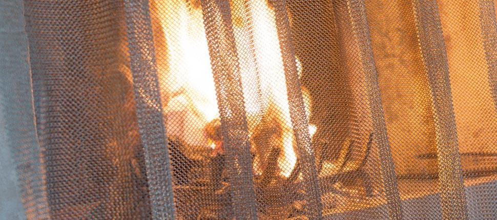 Chainmail fire-break